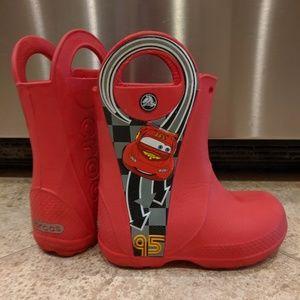 Croc Lightning McQueen rain boots ❤️⚡❤️